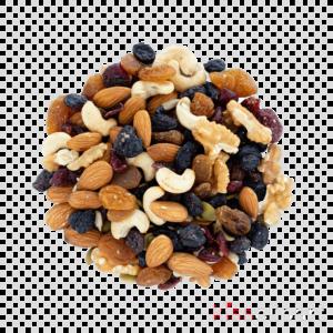 Смесь фруктов и орехов